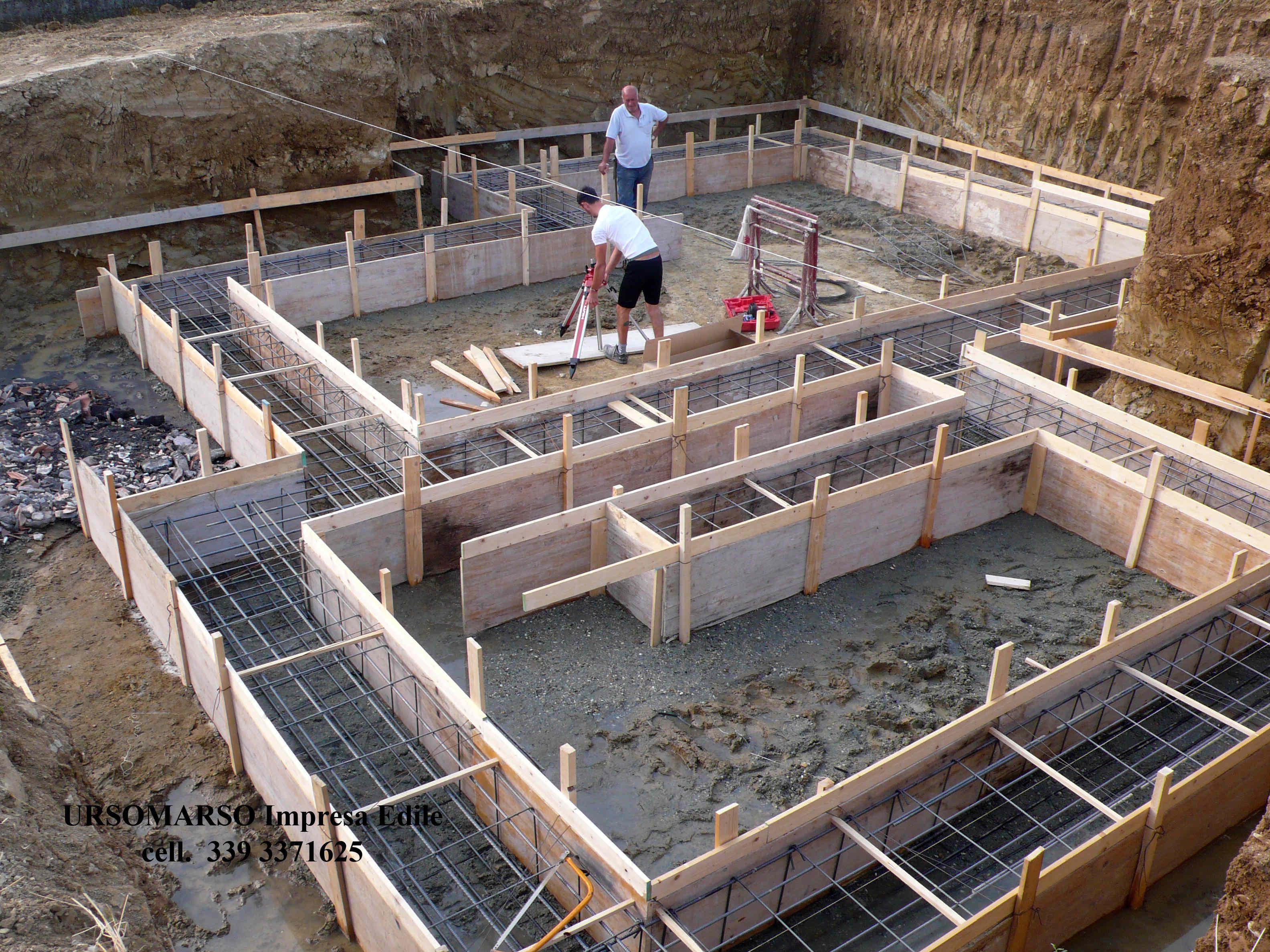 Fondamenta3 ursomarso costruzioni for I costruttori costano per costruire una casa